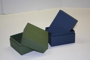 Scatole fasciate a tre pezzi oppure dotate di battente